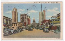 Michigan Avenue Lansing Michigan postcard - $4.46