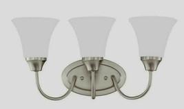 Holman 3-Light Brushed Nickel Bath Light w/ LED Bulbs by Sea Gull Lighting - $89.35