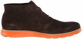 Cole Haan Men's Lunargrand Woodbury Brown Suede Orange Chukka Boot 11 US NIB image 4
