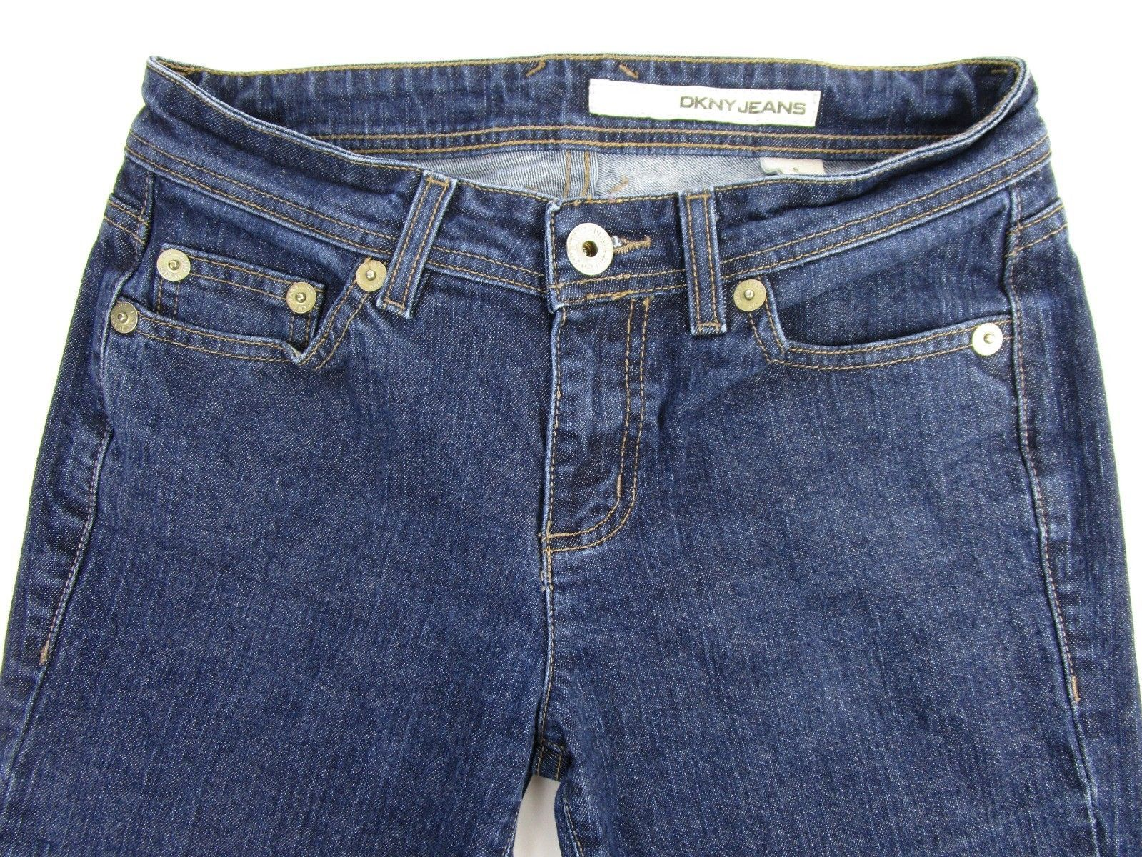 "Primary image for DKNY Jeans Womens Denim Blue Straight Leg Size 6 Waist 30"" Inseam 31"" 9 EUC"