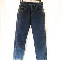 Wrangler Mens Jeans Size 28 X 28 Measured Marked 31 X 30 Dark Wash - $9.96