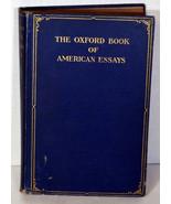 1914 Antique Book First Ed. Oxford Book of American Essays Brander Matthews - $47.49
