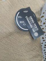 "Gold Metallic Embroidered Lumbar Pillow Fieldcrest 12"" x 18"" Feather Down Fill image 6"