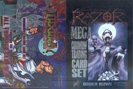 VAMPRESS LUXURA & RAZOR MEGA CHROMIUM 1997 KROME JUMBO PROMO CARD SHEET - $14.69