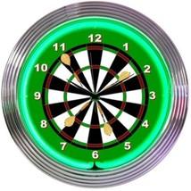 "Darts Mancave Neon Clock 15""x15"" - $64.00"