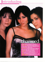 Alyssa Milano Shannen Doherty Holly Marie Combs teen magazine pinup clipping pur