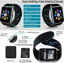 Reloj Inteligente Funcion Con Camara Para iPhone Android Samsung Galaxy Note - $57.22