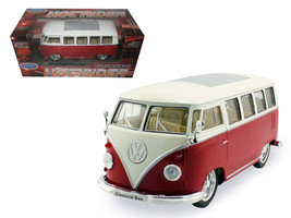1962 Volkswagen Classical Bus Low Rider Red 1/24 Diecast Car Model by Welly - $31.73