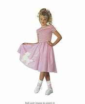 NWOT Rubie's Child Nifty Fifties Costume Pink and White Small - $14.30