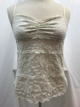Express Off White Lace Lined Cami, Ladies Size Small - $9.49