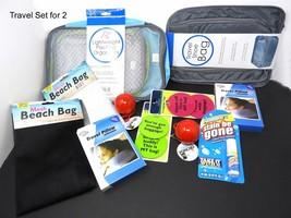 Travel & Packing Set 15 pcs For 2 Pillows Pkg Cubes x 4 Tags x4 Ponchos x 2 - $615,73 MXN