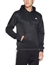 adidas Men's Team Issue Fleece Pullover Hoodie Black Metallic Small