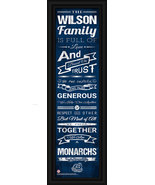 "Personalized Old Dominion ""Monarchs"" 24 x 8 ""Family Cheer"" Framed Print - $39.95"