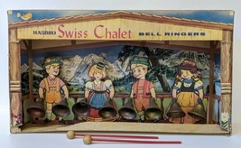 ULTRA RARE Vintage 1960's Hasbro SWISS CHALET Bell Ringers Chimes in Dis... - $100.00