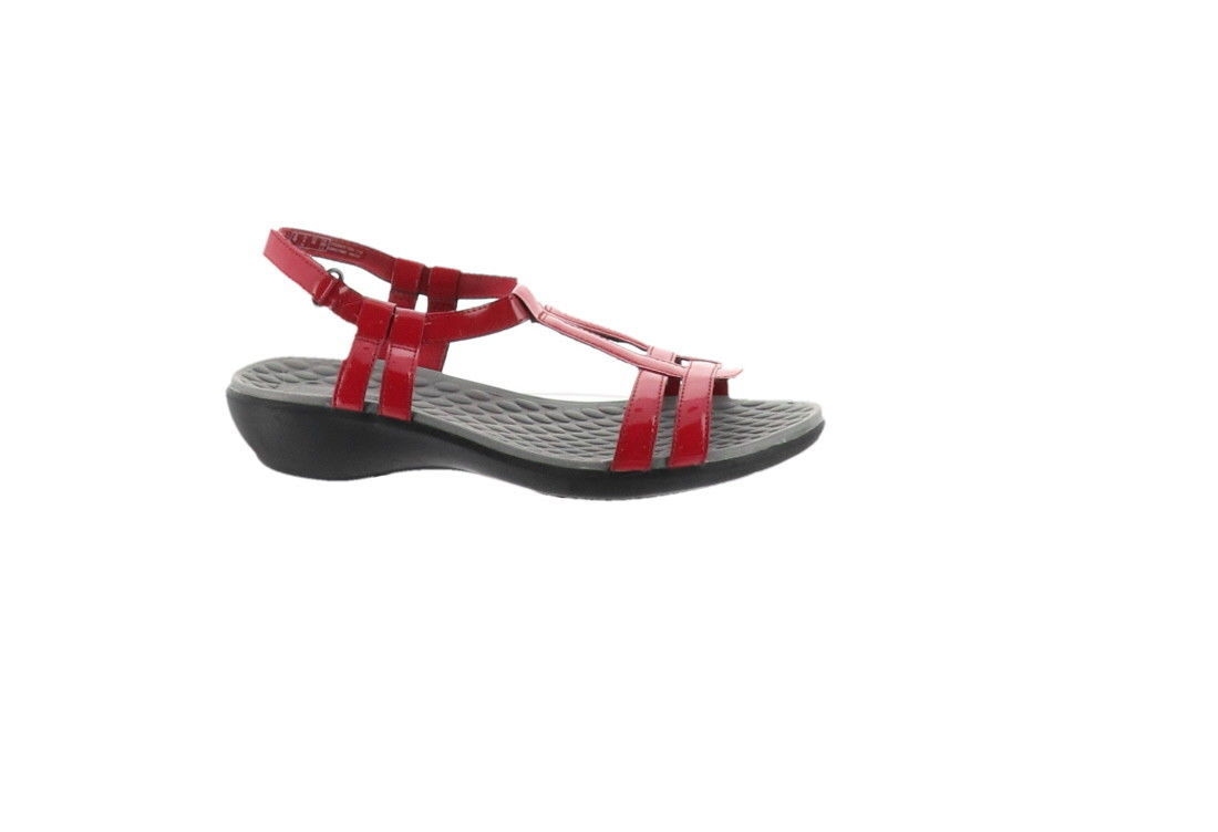 aa0ec67456a Clarks Sonar Aster Patent T-Strap Sandals and 50 similar items