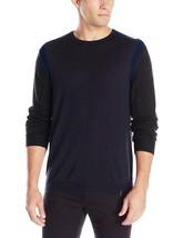 Calvin Klein Men's Merino Crew with Rib Detail Sweater, Purple Shade,XXL, 3856-4 - $32.39