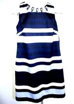 Vince Camuto Shift Dress Huge Rhinestone Bling Stripes NWTBlue Silver 6 ... - $28.71