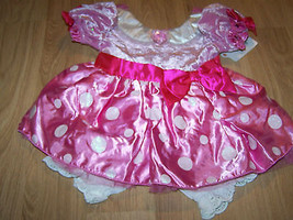 Size 3-6 Months Disney Store Minnie Mouse Costume Dress & Bloomers Pink New - $45.00