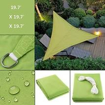 Triangle Sun Shade Sail - 19.7' x 19.7' x 19.7' Durable Waterproof Trian... - $49.62