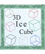 Color 3D Ice Cubes-Digital ClipArt-Art Clip-Gift Tag-Tshirt--Notebook-Gi... - $3.99