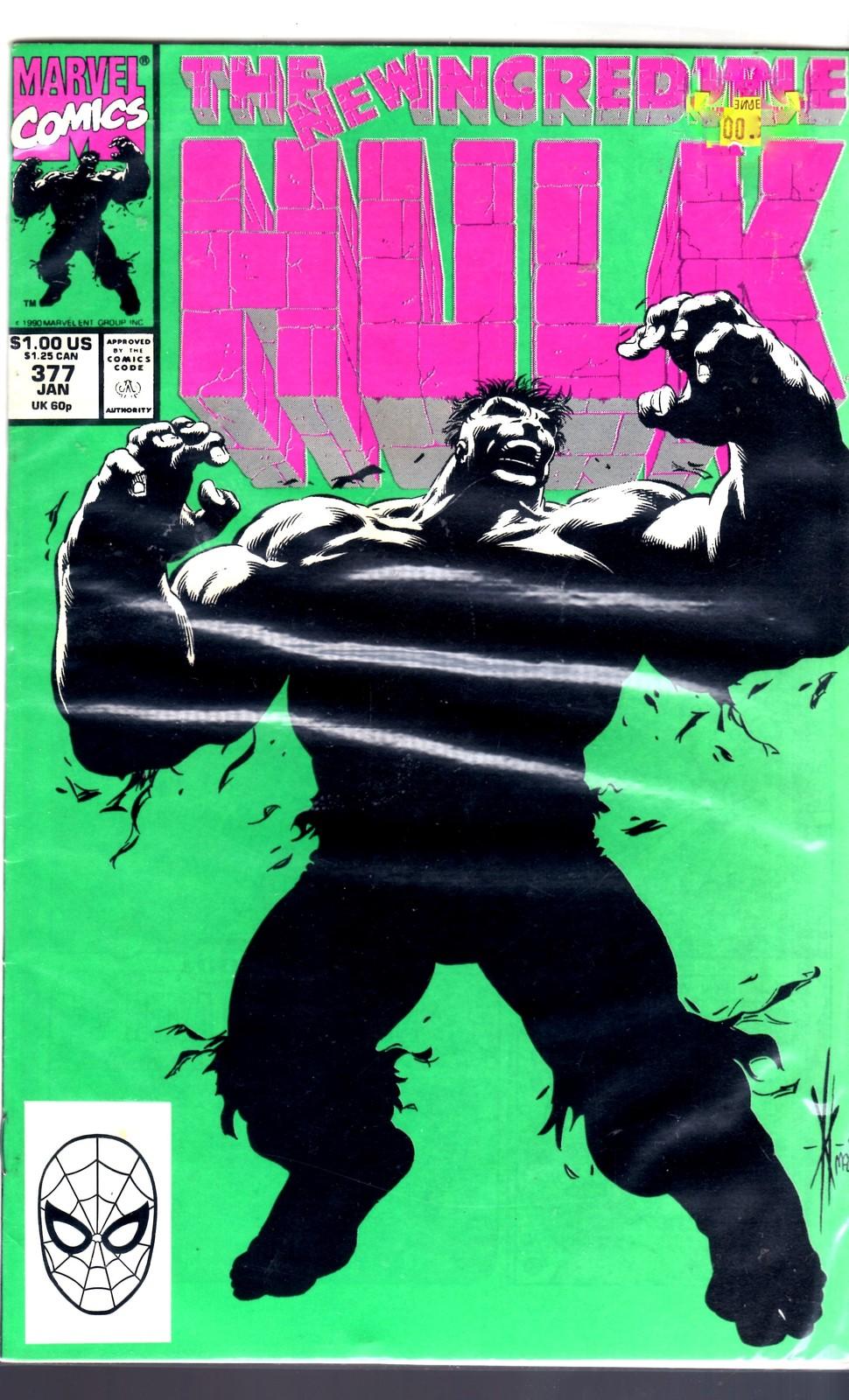 Marvel Comics The Incredible Hulk #377 1991 1st Professor Hulk Appearance NM