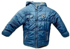Boys Okay Blue Hooded Winter Coat 4 - 5 Years Old Moose - $12.69