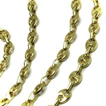 """SOLID 18K YELLOW GOLD MARINER NAUTICAL CHAIN OVAL 3mm, 24"""", ITALY MADE, NECKLACE image 3"""