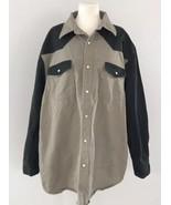Carhartt Men's Shirt Black & Tan Canvas Pearl Snap Western Work Sz 3XL - $38.79