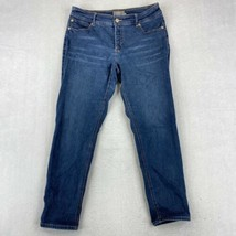 Chico's So Slimming Straight Leg Jeans Women's 1 Blue Cotton Blend Mid Rise - $18.95