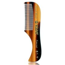 """Kent A 81T """"Freddie"""" The Hand Made Pocket Comb for Beard and Mustache - Fine Saw"""
