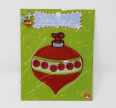 Dritz Iron-On Fabric Applique -- New -- Red Christmas Ornament - $4.74