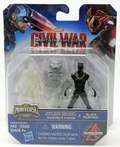 Marvel Guerre Civile Vision contre Panthère Noire Miniverse Figurine Jouet - $12.27