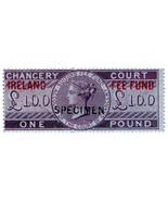 (I.B) QV Revenue : Ireland Chancery Fee Fund £1 (specimen) - €30,95 EUR