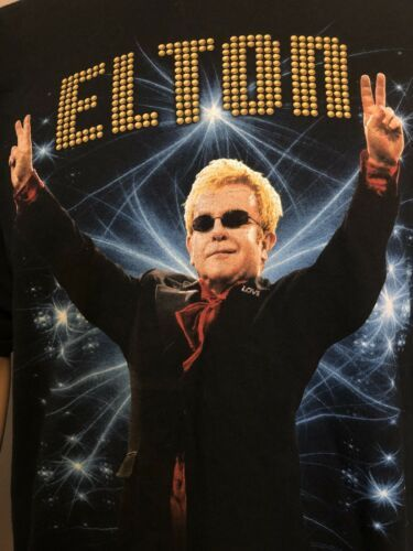 Elton John Rocket Man Concert Tour 2013 Collectible Shirt Black 2XL XXL Unisex
