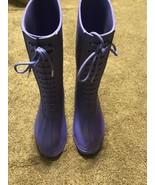Native Rain Boots Shoes Golashes Muck Purple M5 W7 Adult Men's 5 Women's 7 - $54.44