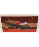 "Cribbage Board Boat Shape Game 12"" Resin Peg Board Boating Sporting Style - $34.64"