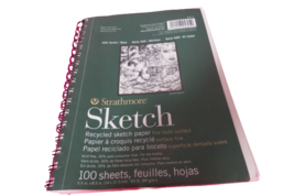 "Strathmore Sketch Pad 400 Series 100 Sheets 5.5"" x 8.5"" Recycled Sketch ... - $9.90"