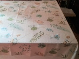 "58"" X 81"" FOOD NETWORK FLORAL DESIGN COTTON POLYESTER BLEND TABLECLOTH - €20,66 EUR"