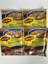 Maggi Beef Flavored Noodle Soup Mix Lot of 4 Expired - $10.39