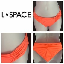 L Space Monique Side Back Ruched Bikini Full Cut Hot Neon Pink Womens M ... - $19.80