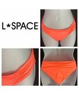 L Space Monique Side Back Ruched Bikini Full Cut Hot Neon Pink Womens M ... - $19.80