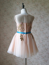 Blush Pink A-Line/Princess Knee-length Flower Girl Dress - Lace Sleeveless Scoop image 5