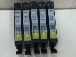 5 Empty Printer ink cartridges  Canon PIXMA 271 Yellow 24496 - $14.80
