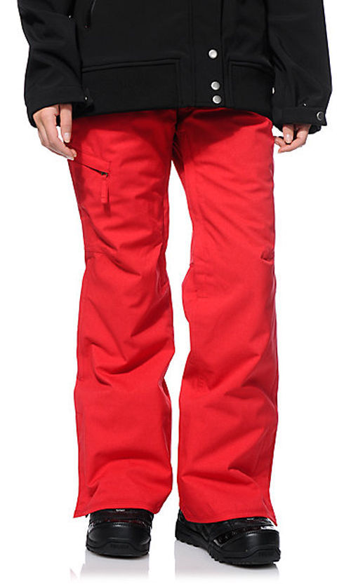 686 Mannual Patron Snowboard Pants Womens 10k Insulated Red S