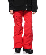 686 Mannual Patron Snowboard Pants Womens 10k Insulated Red S - $121.69