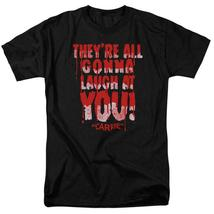 Carrie T-shirt Laugh At You 1970's horror movie retro graphic tee MGM321 - $19.99+