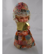 "Vintage Musical Spinning Wind Up Doll 9.5"" Christmas Carol Decoration - $7.15"
