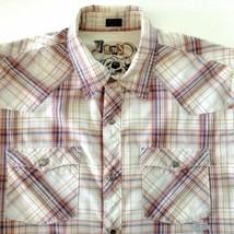 Vans Plaid Western Pearl Snap Shirt  Short  Sleeve Size Medium - $24.70