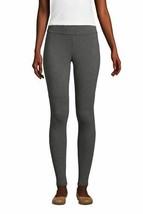 Lands' End Women's Petite Cotton Spandex Legging Charcoal Heather PXL NE... - $25.72
