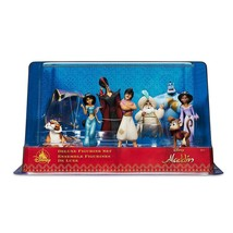 Disney Store Aladdin Deluxe Figurine Set Cake Topper 9 Pieces New with Box - $32.59